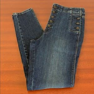 J brand high rise jeans.